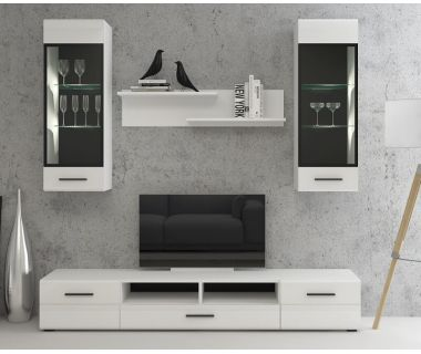 Стенка в гостиную Bianko 3 (Бьянко 3) белая