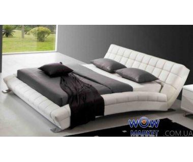 Кровать двуспальная AY197 Aonidisi белая 180х200см Акорд