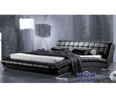 Кровать двуспальная AY197 Aonidisi черная 180х200см Акорд