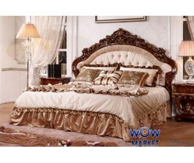 Кровать двуспальная Афродита 180х200см с эко кожей орех Акорд