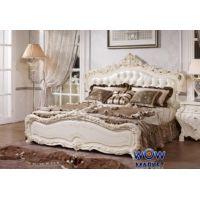 Кровать двуспальная Венеция 180х200см с эко кожей белый Акорд