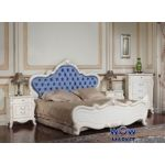 Кровать двуспальная Тоскана (белая с патиной) 160х200см Акорд