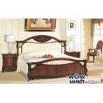 Кровать двуспальная CF 8631 160х200см орех итальянский Акорд