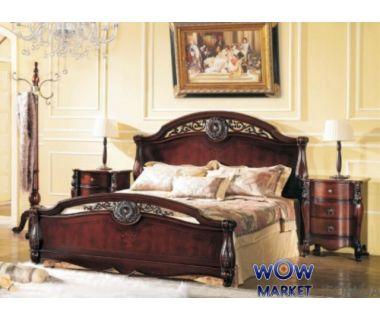 Кровать двуспальная CF 8653 180х200см орех Акорд