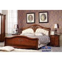 Кровать двуспальная CF 8670 180х200см орех Акорд