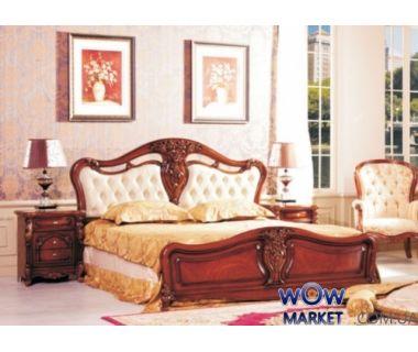 Кровать двуспальная CF 8673 180х200см орех Акорд