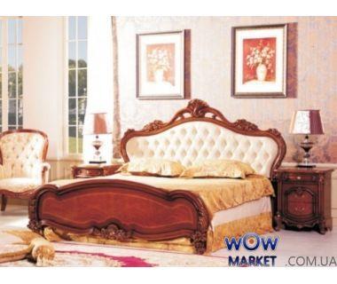 Кровать двуспальная CF 8675 160х200см орех Акорд