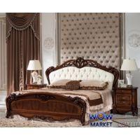 Кровать двуспальная CF 8706 180х200см орех Акорд