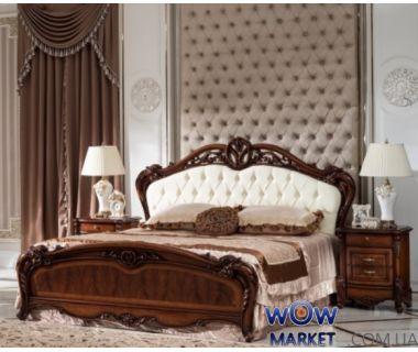 Кровать двуспальная CF 8706 160х200см орех Акорд