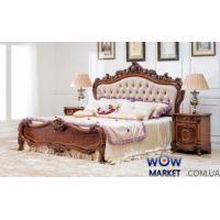 Кровать двуспальная CF 8711 160х200см орех итальянский Акорд