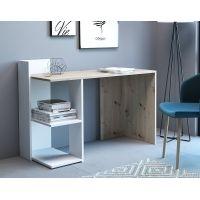 Компьютерный стол Paco 1 (Пако 1) дуб артисан, белый