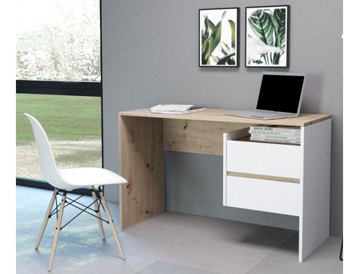 Компьютерный стол Paco 3 (Пако 3) дуб артисан, белый