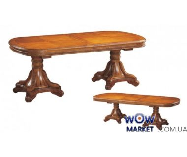 Стол раскладной DM-Р22Ext 2000(+500)x1100x780мм орех, вишня Акорд