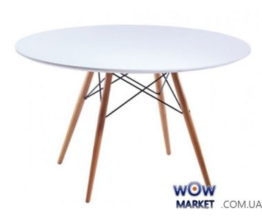 Стол обеденный круглый AC-078BW белый 120*120*74,5см Ак