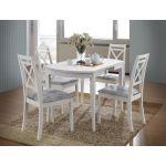 Кухонный комплект стола Modena и стулья Picasso, белый Ак