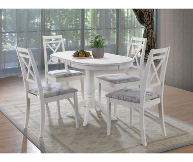Кухонный комплект стола Salerno и стулья Picasso, белый Ак