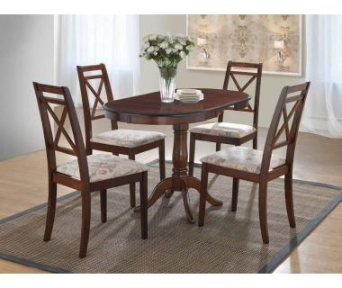 Кухонный комплект стола Salerno и стулья Picasso, темный орех Акорд