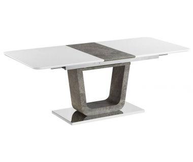 Стол раскладной Cube (Куб) бетон белый