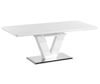 Стол обеденный Accord раскладной Nes белый глянец