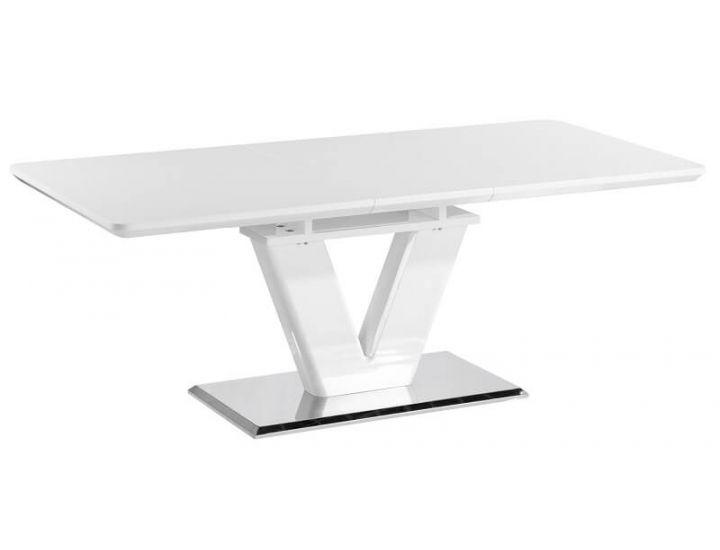 Стол обеденный Accord раскладной Nes 1600/2000*900*760 белый глянец