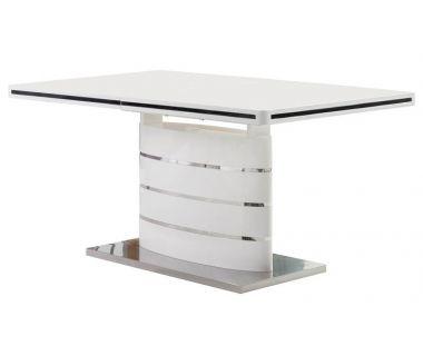Стол обеденный Accord раскладной Odessa белый глянец