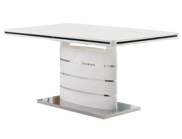 Стол обеденный Accord раскладной Odessa 1600/2200*900*760 белый глянец