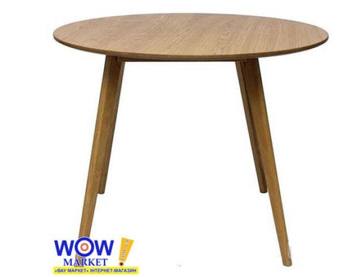 Стол обеденный круглый Meet дуб 100*100*75 см