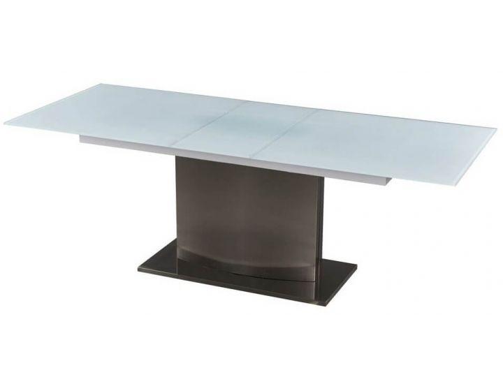 Обеденный дизайнерский раскладной стол Seattle (Сиэтл) белый 180-220см