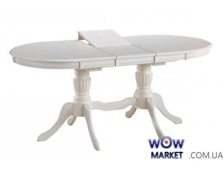 Стол раскладной овальный Olivia 1,5 (Оливия) белый Акорд
