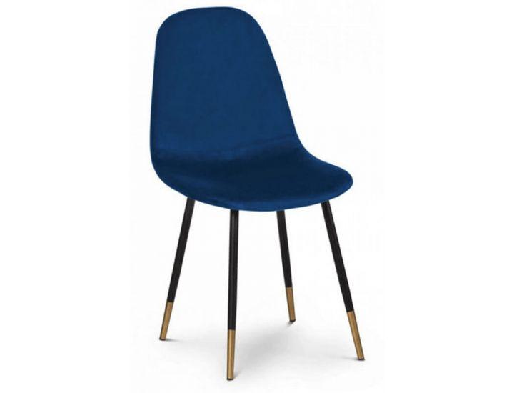 Мягкий стул Goldi (Голди) синий велюр