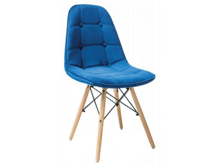 Мягкий стул Pixel голубой велюр