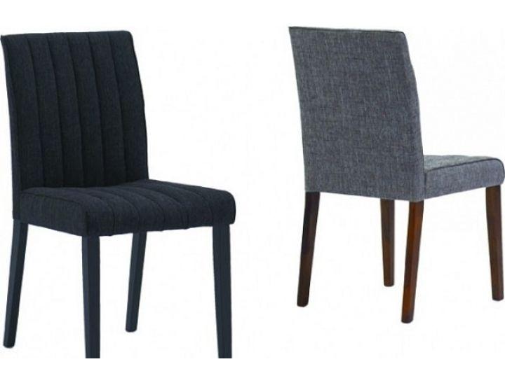 Деревянный мягкий стул Strip (Стрип) каштан/серый