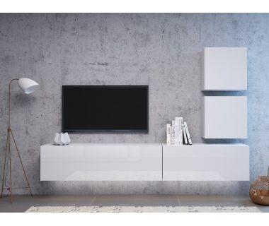 Стенка в гостиную Vivo белый глянец 3