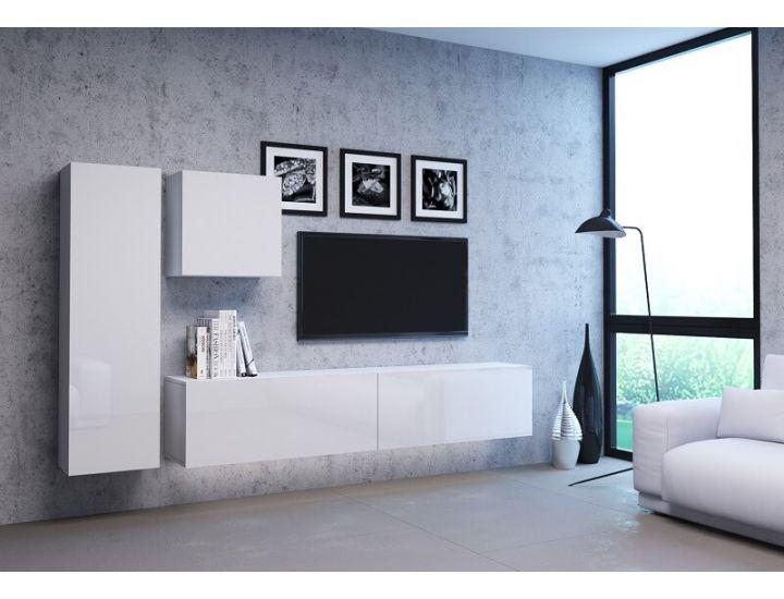 Стенка в гостиную Vivo белый глянец 4