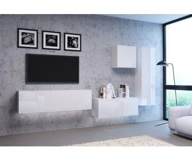 Стенка в гостиную Vivo белый глянец 5