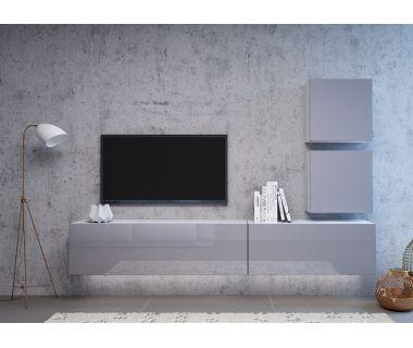 Стенка в гостиную Vivo серый глянец 3