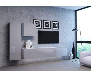 Стенка в гостиную Vivo серый глянец 4