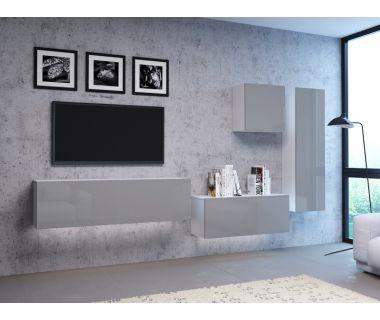 Стенка в гостиную Vivo серый глянец 5
