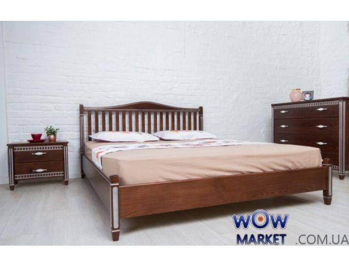 Кровать двуспальная Монблан 180х200см орех темный Микс-Мебель Мария