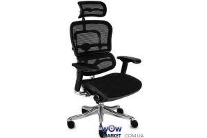 Кресло офисное Ergohuman Plus эргономичное, черное C.S. Group