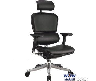 Кресло офисное Ergohuman Plus кожа эргономичное, черное C.S. Group