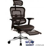 Кресло офисное Ergohuman Plus с подставкой для ног эргономичное, черное C.S. Group