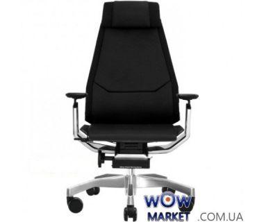 Кресло офисное Genidia Lux кожа эргономичное, черное C.S. Group