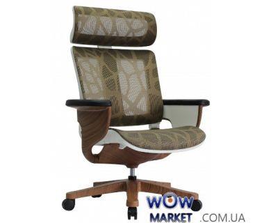 Кресло компьютерное Nuvem TTB эргономичное, зеленая сетка C.S. Group