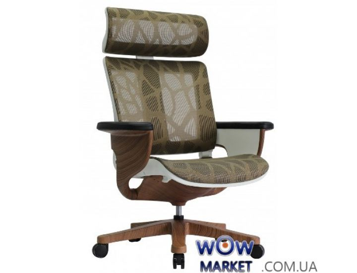 Эргономичное компьютерное кресло-реклайнер Nuvem TTB, зеленая сетка C.S. Group
