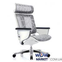 Кресло компьютерное Nuvem Silver Mesh эргономичное, серо-белая сетка C.S. Group