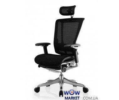 Кресло компьютерное Nefil Luxury Mesh эргономичное, черное C.S. Group