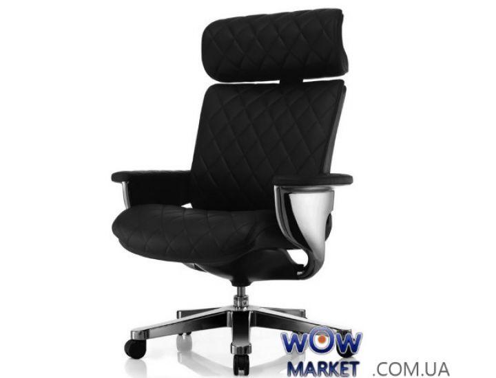Эргономичное компьютерное кресло Nuvem EP-HAL-BR, черная кожа C.S. Group