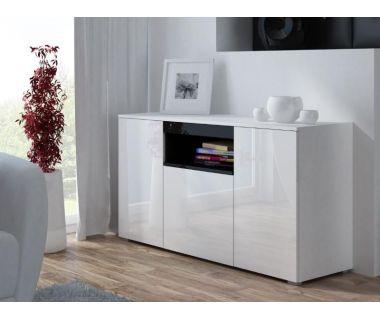 Комод VIVA Cama 150/45 Белый Мат / Белый Глянец / Черный