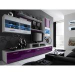 Стенка  LOGO II Cama Белый Мат / Фиолет и Белый Глянец